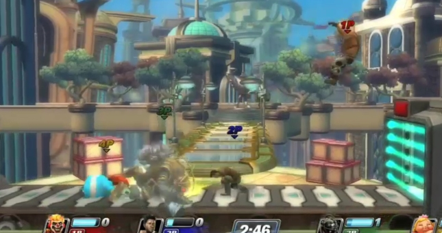 Big Daddy Attacks In PlayStation All-Stars: Battle Royal. Or Being attacked?