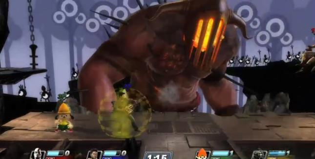 Nathan Drake PlayStation All-Stars Minigun Attack Screenshot