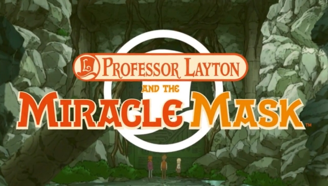 Professor Layton and the Miracle Mask Title Screenshot With Logo (USA)