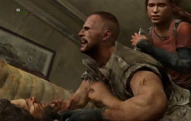 Ellie Backstabbing in The Last of Us E3 2012 Sony Conference Screenshot