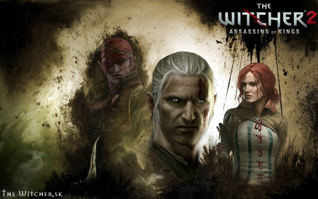 The Witcher 2 Wallpaper (Face Profiles)
