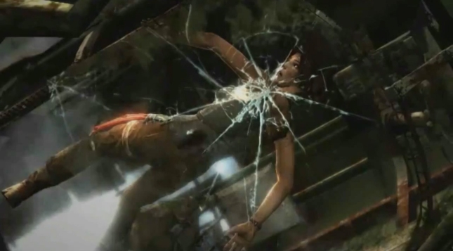 Tomb Raider 2013 Glass Shattering Jurassic Park Moment