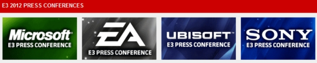 Pre E3 2012 Press Conference Battle. Sony vs Microsoft vs Ubisoft vs EA