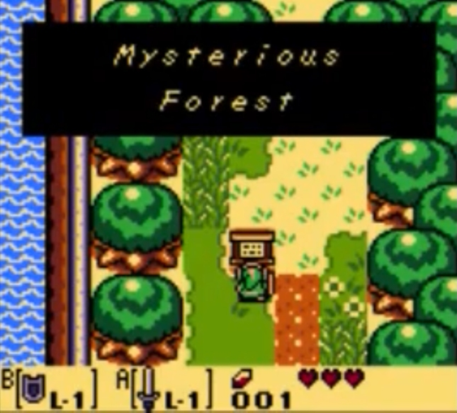 Zelda: Link's Awakening Mysterious Forest Screenshot