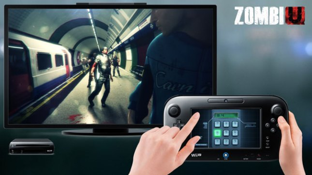 ZombieU Wii U GamePad tablet controller screenshot