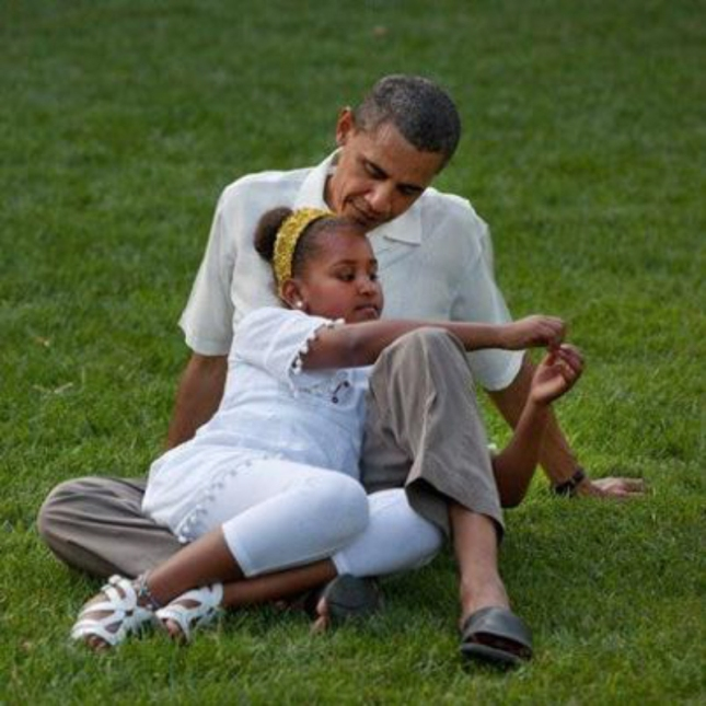 Barack Obama With Sasha. Summer, July 18 2012