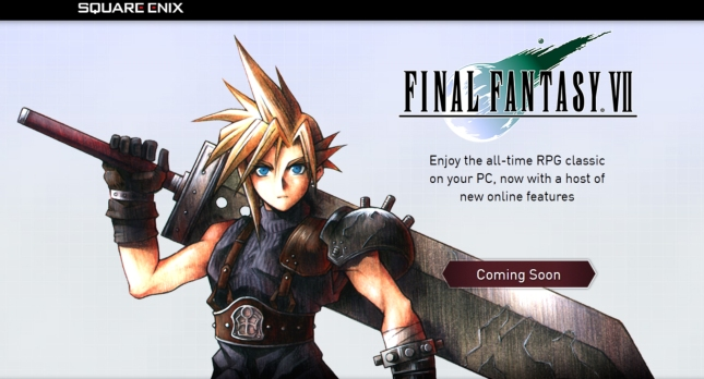 Final Fantasy VII PC Cloud Strife Art (2012 Re-Release With Achievements)