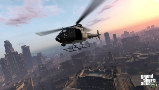 Grand Theft Auto V Helicopter Chopper Gameplay Screenshot