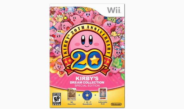 Kirby's Dream Collection Wii 20th Anniversary Set Cover Artwork