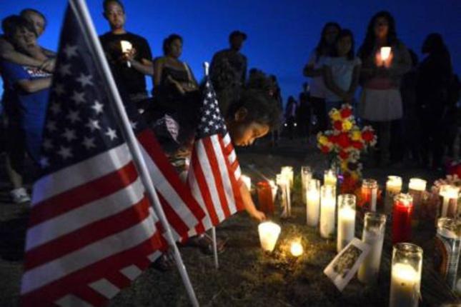 Massacre Memorial For Aurora Colorado Theater Shooting Victims