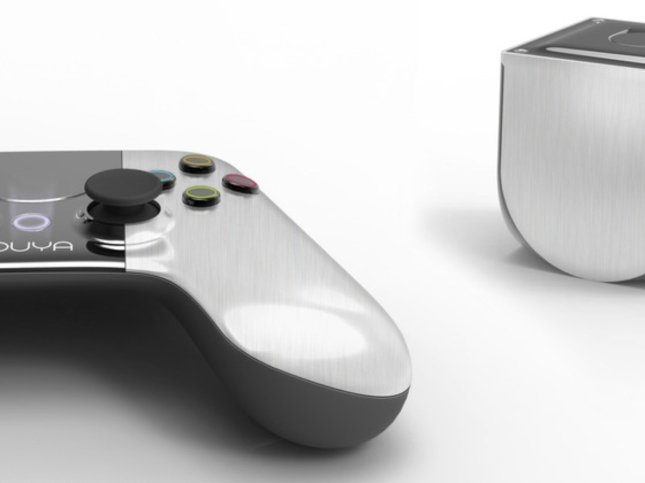 OUYA Videogame System and Controller. Uses Android.