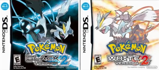 Pokemon White 2 and Pokemon Black 2 US Cover Artwork (DS)