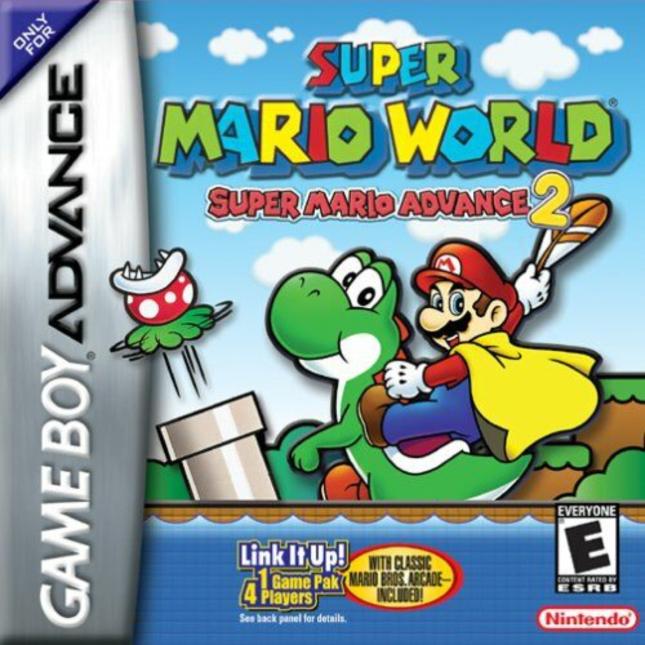 Super Mario World Advance Box Art for the Cover (GBA)