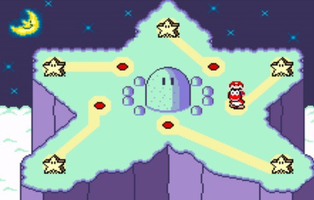 Super Mario World Star Road Screenshot