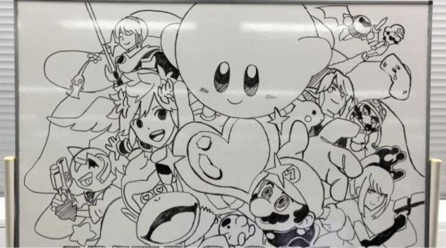 Super Smash Bros. Wii U 3DS Characters Art By Sakurai