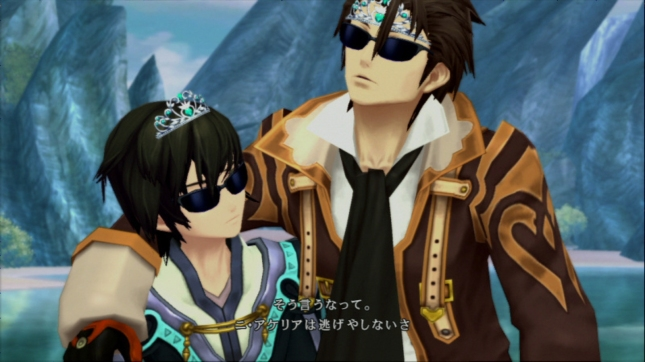 Tales of Xillia Characters Screenshot. Some pretty cool cats in shades!