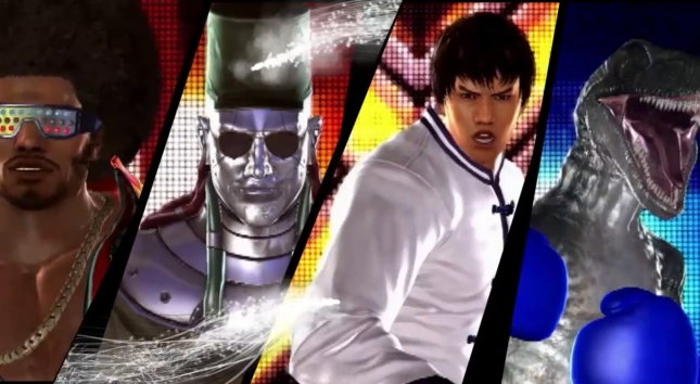 Tekken Tag Tournament 2 Characters Screenshot of Tiger, P-Jack, Forest Law and Alex!