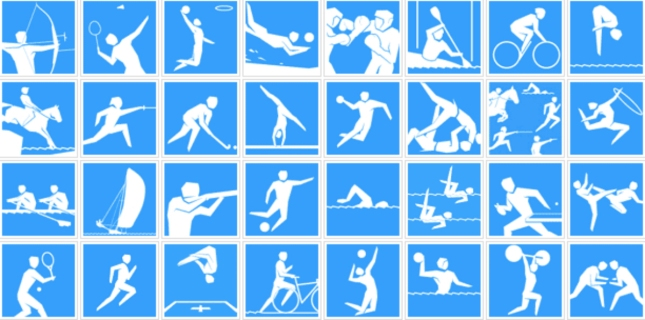 All Olympic Sports Logos London 2012