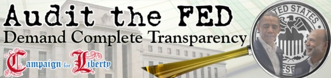 Audit the Federal Reserve Banner Art