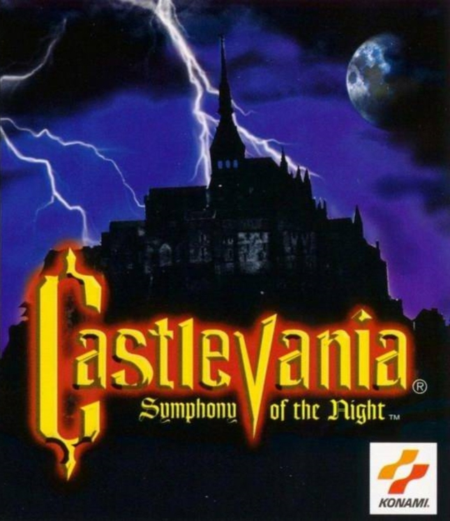 Castlevania: Symphony of the Night American Box Art Cover (PS1)