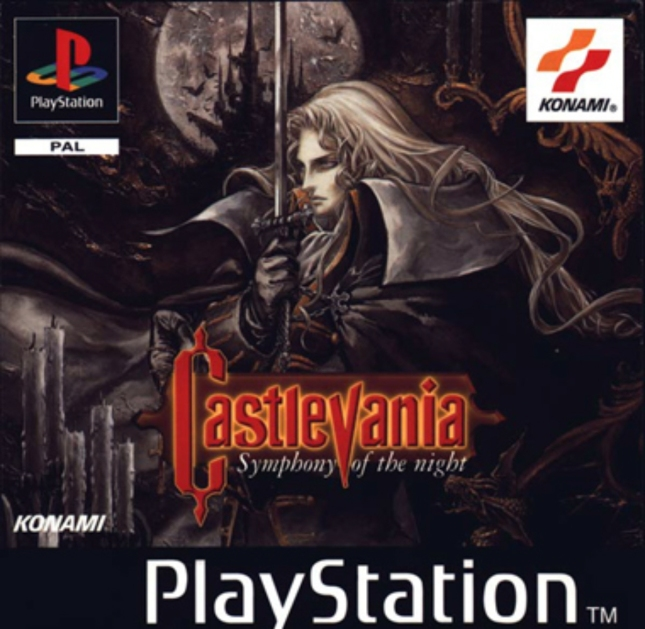 Castlevania: Symphony of the Night PAL Cover Art