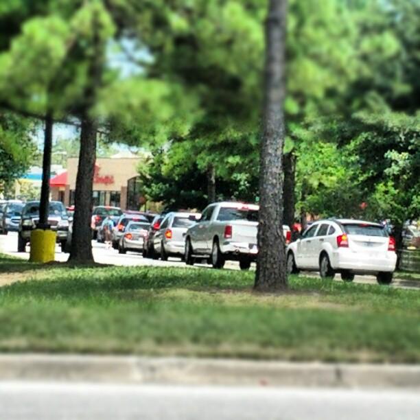 Car Line Chick Fil A Apprecation Day!
