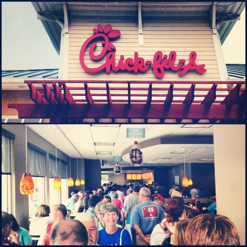 ChickfilA Appreciation Day Huge Crowd of People