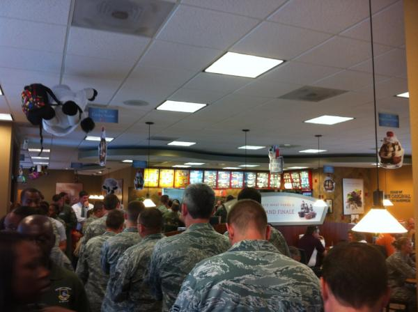 ChickfilA Appreciation Day Military at South Carolina Charleston