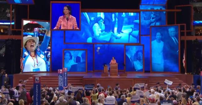 Condi Rice RNC2012 Speech Photograph of Giant Crowds
