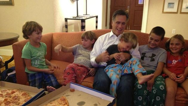 Cute Romney Playing With Grandkids Photo