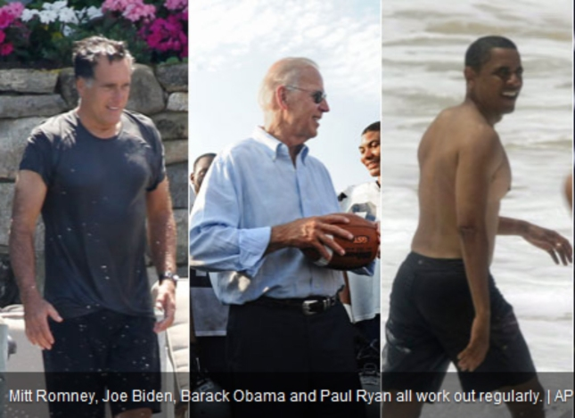 Fittest Presidential Candidates Ever. Buff Romney, Obama and 70-Year Old Biden