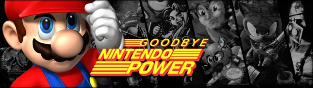 Goodbye Nintendo Power Magazine Banner Art