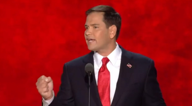 Marco Rubio RNC2012 Speech Photo Pic For Cuban Hispanic Senator From Florida