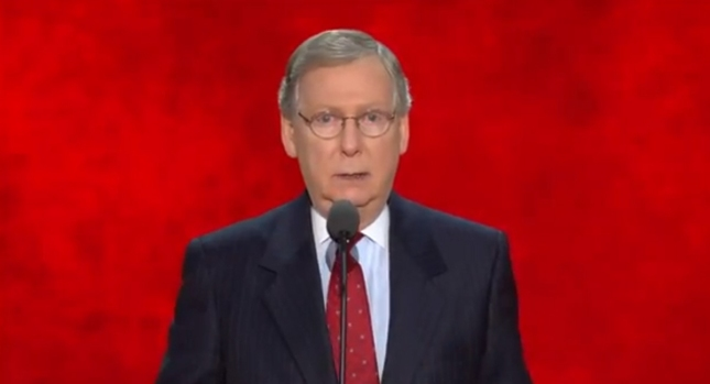 Mitch McConnel RNC2012 Speech Photo For Senate Republican Minority Leader