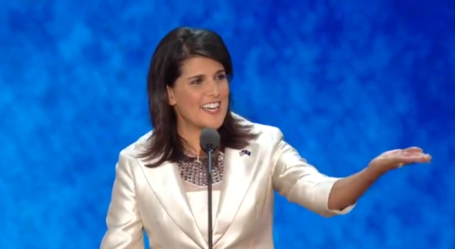 Nikki Haley Cute At RNC2012. Speech Photo of the Rising Woman Republican Star of India Descent