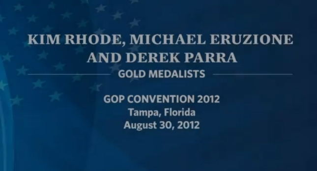 Olympians RNC2012 Speech Art