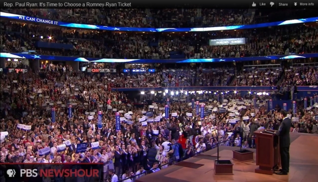 Paul Ryan RNC 2012 Speech With Huge Crowd Audience Photo