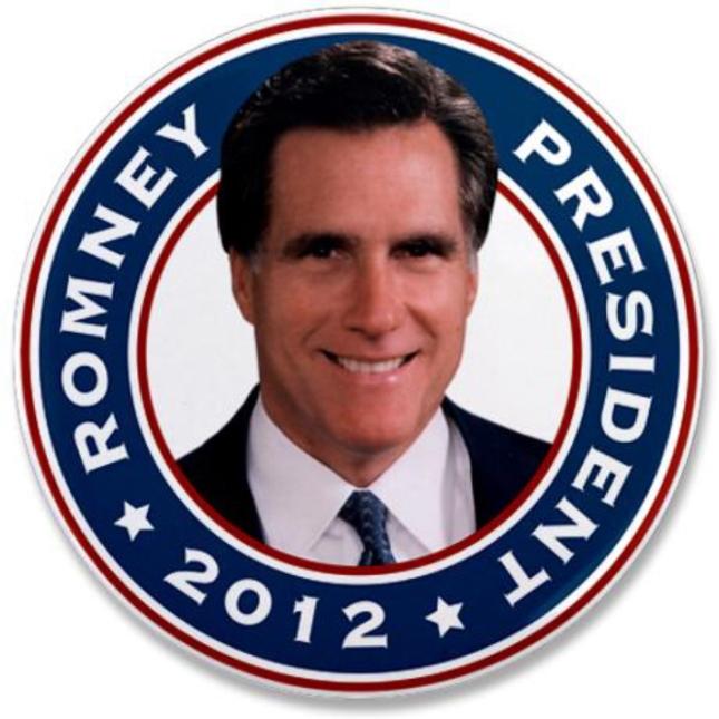 President Mitt Romney 2012 Coin Pin