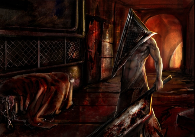 Pyramid Head Represents Satan Artwork By Calisto Lynn