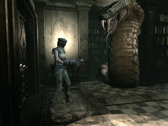 Resident Evil Remake Giant Snake Boss Yawn Screenshot