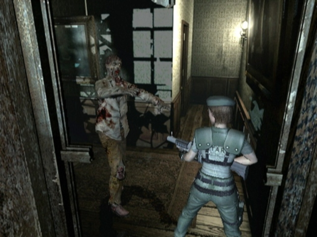 Resident Evil Remake Zombie Shotgun Screenshot