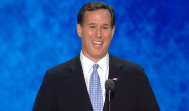 Rick Santorum RNC2012 Speech Photo