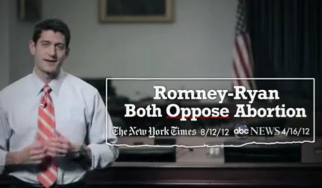 Romney Ryan Oppose Abortion Are Both Pro-Life Banner