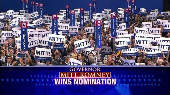 Romney Wins RNC Nomination With 2061 Delegate Votes. Only 1144 Were Needed