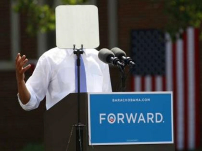 Teleprompter In Chief TOTUS Speaks - Teleprompter of the United States Barack Obama August 2012