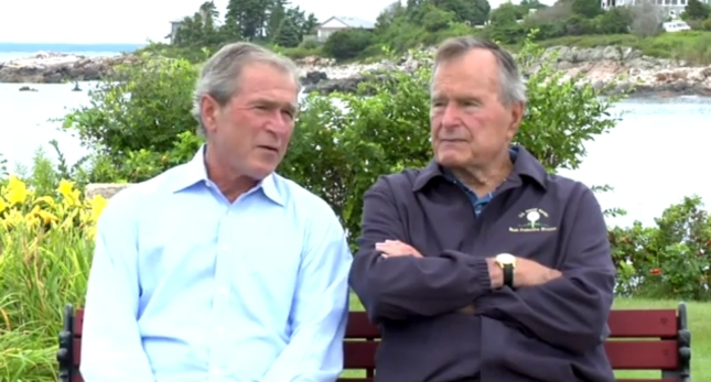 The Bushes RNC2012 George W HW Trailer Showing Them Together