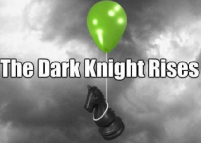The Dark Knight Rises Chess Piece on Balloon