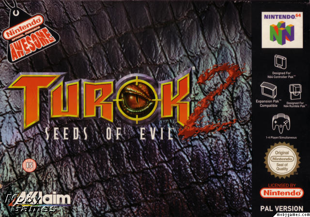 Turok 2: Seeds of Evil Box Art Europe Black