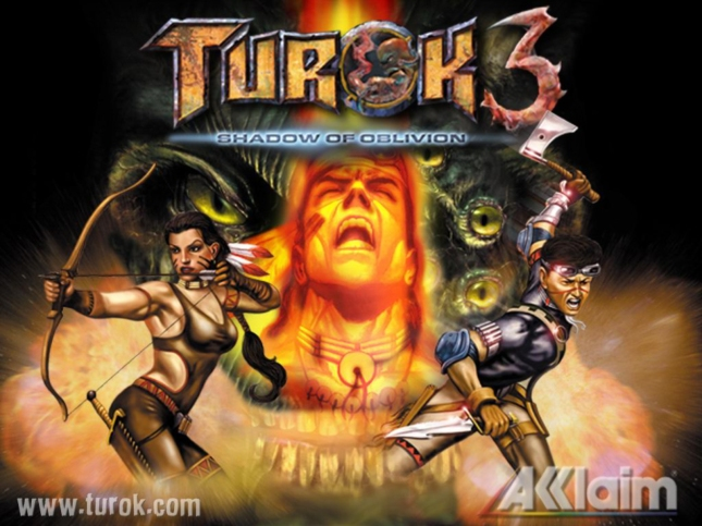 Turok 3: Shadow of Oblivion Wallpaper Box Art