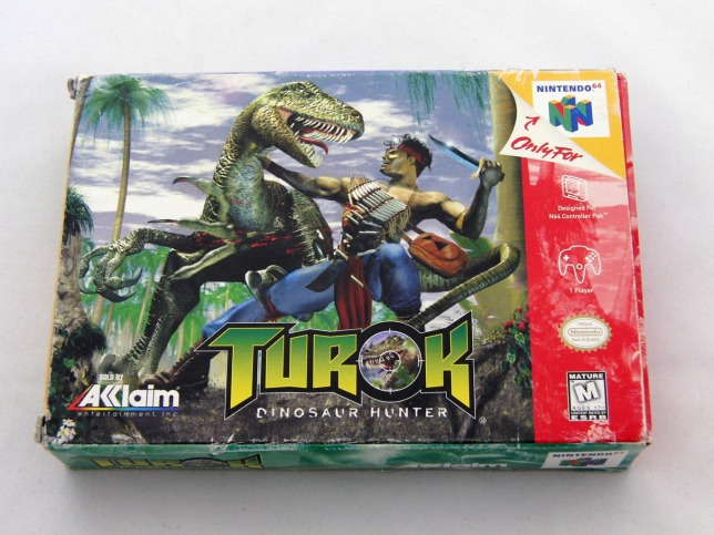 Turok: Dinosaur Hunter N64 Box Art (Sealed)